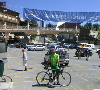 Raymond van Toor - finish Alp 'd Huez
