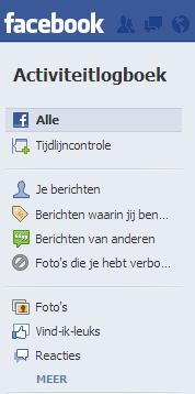Facebook Activiteitenlogboek bekijken