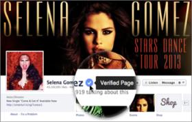 Selena Gomez Facebook Verified Page