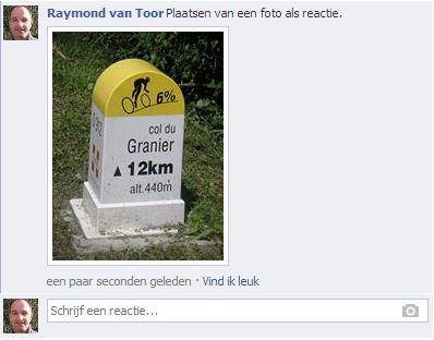 Facebook foto als reactie plaatsen II