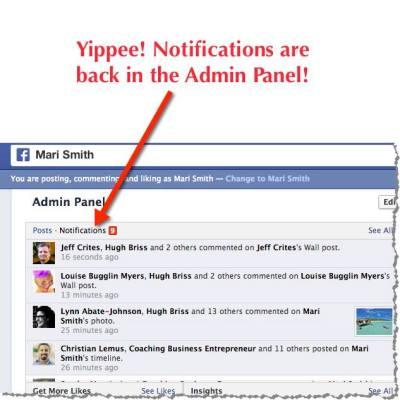 Facebook Pagina meldingen