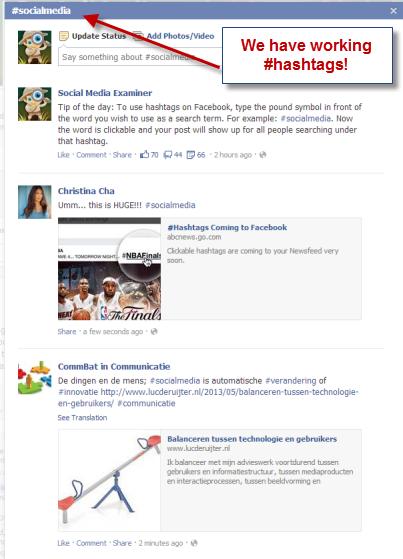 Working Facebook Hashtags Social Media Examiner