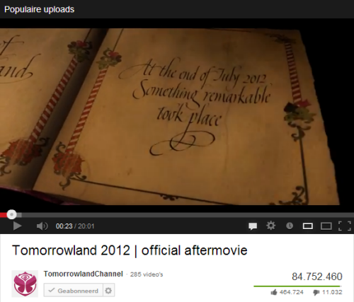 Tomorrowland - official aftermovie 2012