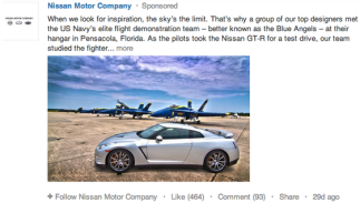 LinkedIn Sponsored Updates Nissan