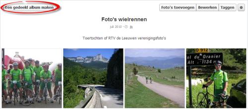 Facebook Fotoalbum delen via Persoonlijk Profiel