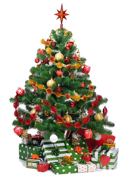 Ingerichte Kerstboom met Cadeau's