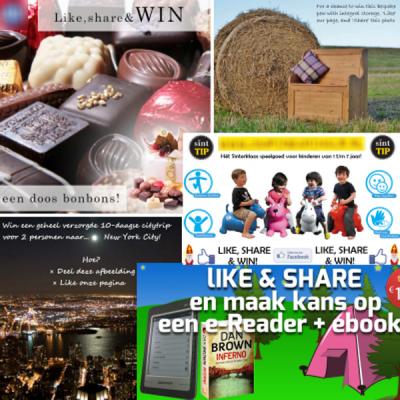 Niet toegestane Facebook 'Like, Share en Win' acties