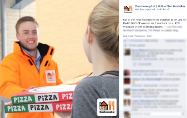 Thuisbezorgd.nl Facebook actie