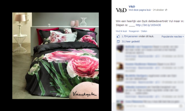 V&D Facebook actie