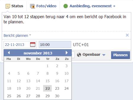 Eenvoudiger Schedulen Facebook Post
