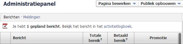 Facebook bericht plannen IX