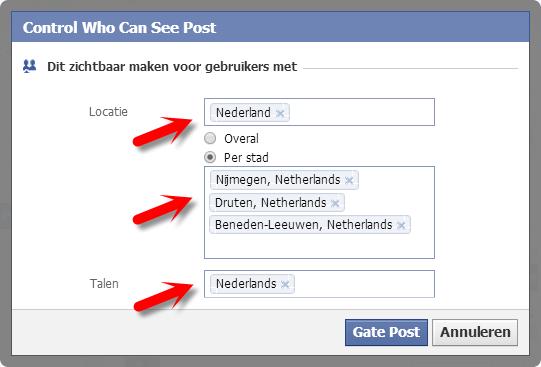 Facebook bericht plannen VI