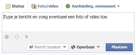 Facebook bericht plannen