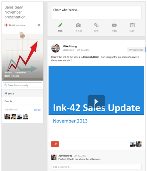 Google Plus Privé Community