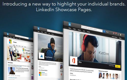 LinkedIn Showcase Pagina's