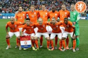 Nederlands elftal tijdens WK 2014 in Brazilië