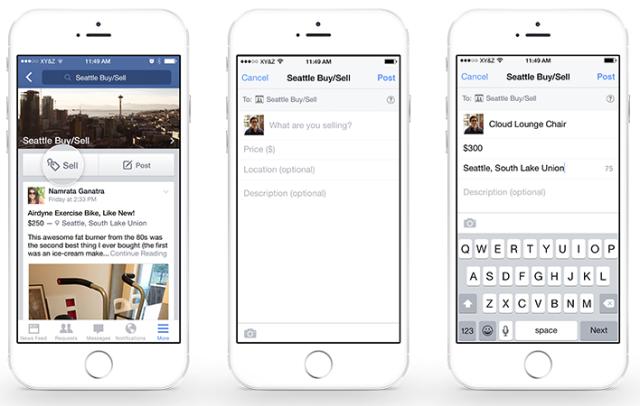 Facebook koop en verkoop in Groepen