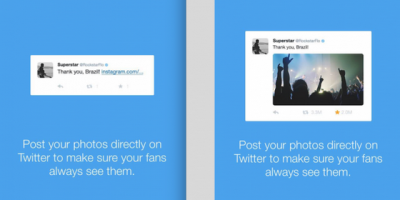 Twitter toont geen Instagram foto meer