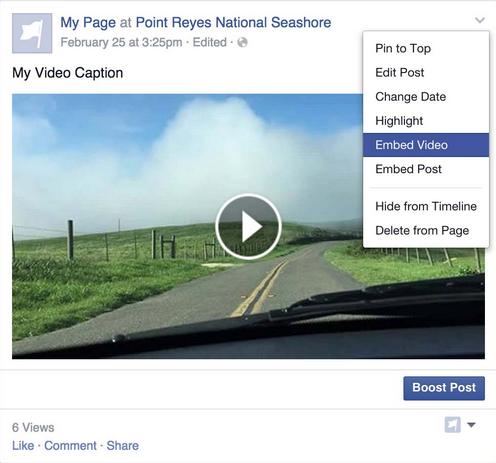 Facebook embedden video