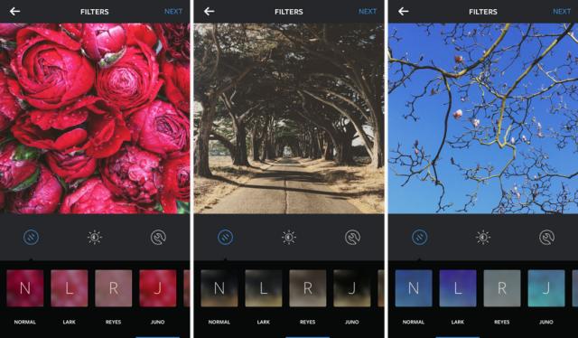 Drie nieuwe Instagram foto filters