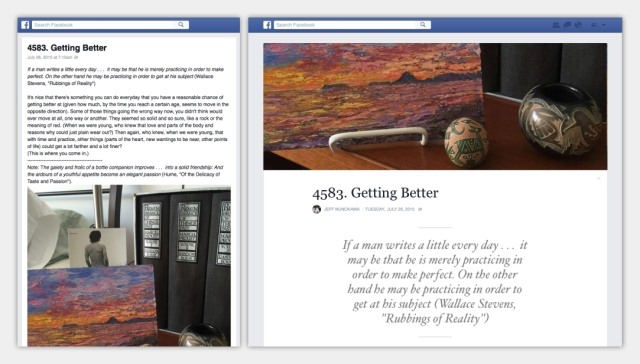 Nieuwe layout Facebook Notities